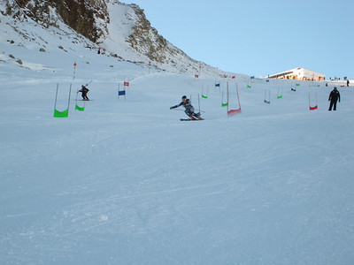 Lauren Ross in action while training for the World Cup opener at Soelden (credit: Doug Haney/U.S. Ski Team)