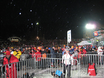 The fans pack deep into the Schladming finish area (Doug Haney/U.S. Ski Team)