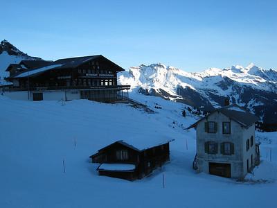 A view from Kleiner Scheidegg, near the start of the famous Lauberhorn downhill in Wengen (Doug Haney/U.S. Ski Team)