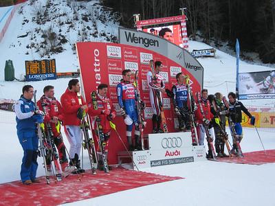 The top 10 men in the super combined at Wengen (Doug Haney/U.S. Ski Team)
