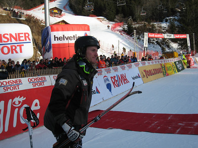 Ted Ligety is announced for the awards ceremony after finishing 5th in super combined at Wengen (Doug Haney/U.S. Ski Team)