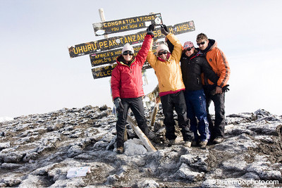Julia Mancuso and former World Cup racer Lauren Ross after summiting Mt. Kilimanjaro to raise money for Right to Play (http://www.laurenrossphoto.com)