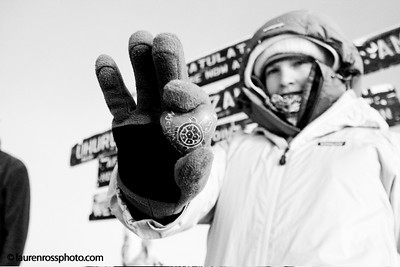 Julia Mancuso after summiting Mt. Kilimanjaro to raise money for Right to Play(http://www.laurenrossphoto.com)