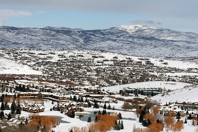 View from the GS course at the USSA NDS Invitational at Park City Mountain Resort Photo: Jen Desmond/U.S. Ski Team