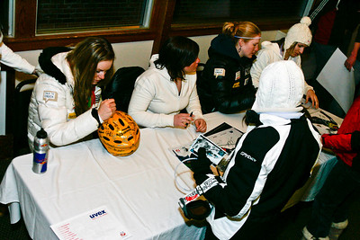 U.S. Ski Team athletes sign autographs for fans at the Nature Valley U.S. Alpine Championships, Sugarloaf/USA, Maine Photo © Kris Dobie.  Most Images in this gallery may be used only for editorial use with advance approval by USSA. Photos © Kris Dobie.