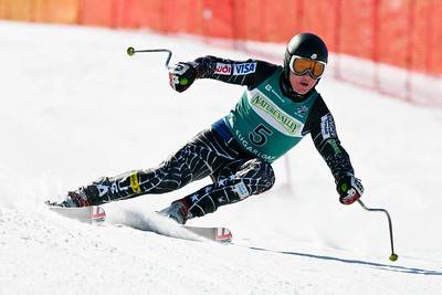 Kevin Francis wins the men's super G at the Nature Valley U.S. Alpine Championships, Sugarloaf/USA, Maine. Photo © Kris Dobie.  Most Images in this gallery may be used only for editorial use with advance approval by USSA. Photos © Kris Dobie.