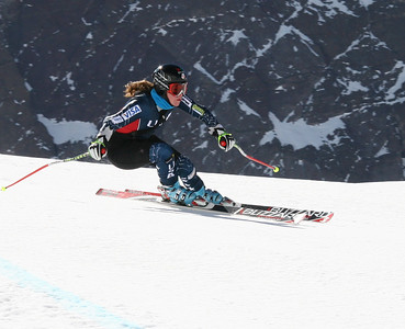Caroline Lalive back on snow and shredding in Chile (credit: Christa Riepe/U.S. Ski Team)
