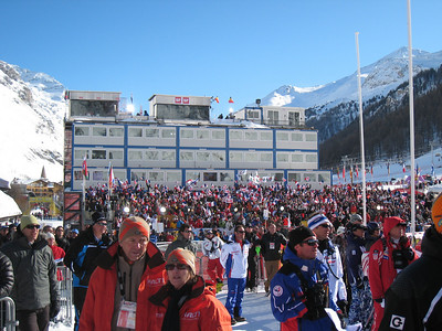A packed house for the men's slalom in Val d'Isere (Doug Haney/U.S. Ski Team)
