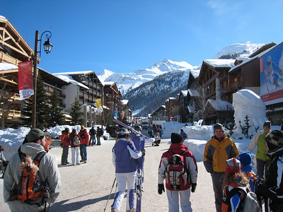 Main street in Val d'Isere (Doug Haney/U.S. Ski Team)