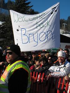 The Bryon Friedman fan club representing in Kitzbuehel (Doug Haney/U.S. Ski Team)