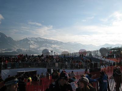 Kitzbuehel wakes up for the Sunday's slalom (Doug Haney/U.S. Ski Team)
