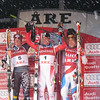 (l-r) Ted Ligety, Benni Raich and Didier Cuche finish 2-1-3 in the season's final giant slalom (Doug Haney/U.S. Ski Team)