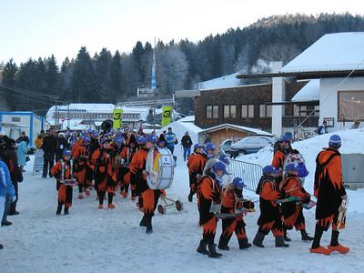 The Maria Riesch fan club marches to the super G finish in Garmisch (Doug Haney/U.S. Ski Team)