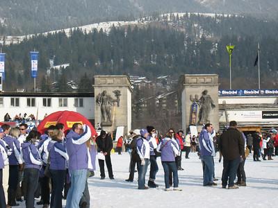 The slalom finish area is the same as the Olympic ski jumps in Garmisch (Doug Haney/U.S. Ski Team)
