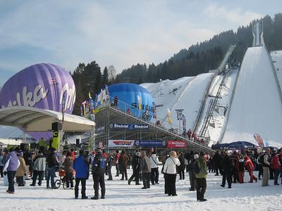 The crowd fills into the stadium prior to the women's slalom in Garmisch (Doug Haney/U.S. Ski Team)