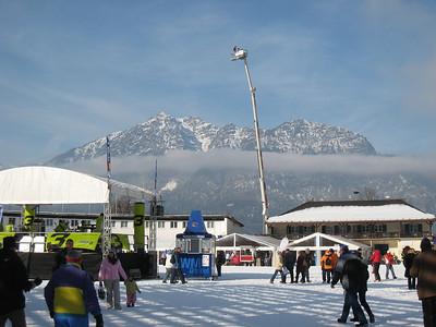 Mountains line the valley in Garmisch (Doug Haney/U.S. Ski Team)