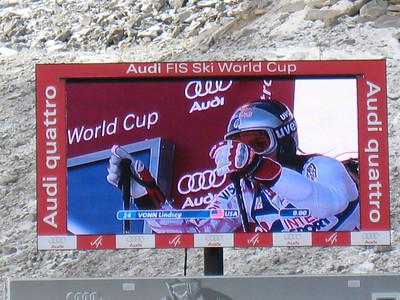 Lindsey Vonn prepares to start in Soelden.   2009 Audi FIS Alpine World Cup Solden, Austria Photo: Doug Haney/U.S. Ski Team