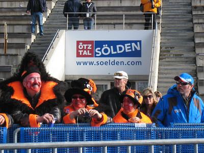 Swiss fans at the alpine World Cup opener.   2009 Audi FIS Alpine World Cup Solden, Austria Photo: Doug Haney/U.S. Ski Team