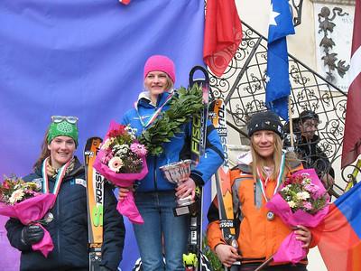 Topolino 2009 Slalom Podium left: Paula Moltzan USA, silver medal