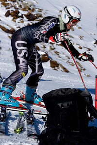 """Jessica Kelley (Starksboro, VT) trains on the """"icebox"""" in Soelden, Austria prior to the World Cup opener (Kevin Pritchard)"""