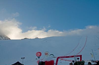 Raceday dawns on the Rettenbach Glacier high above Soelden, Austria. (U.S. Ski Team)