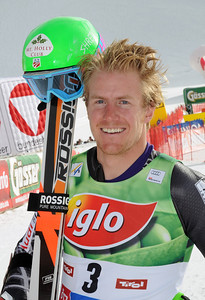 Ted Ligety poses after finishing second in the Audi FIS Alpine World Cup on the Rettenbach Glacier high above Soelden, Austria. (U.S. Ski Team)