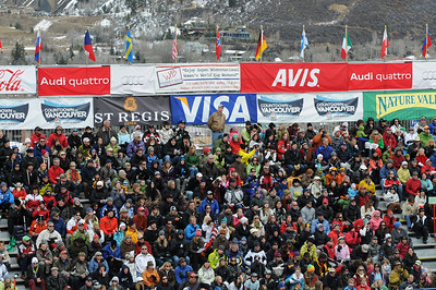 Fans pack the stands during the women's giant slalom at Aspen Winternational, part of the Audi FIS World Cup. (U.S. Ski Team/Tom Kelly)