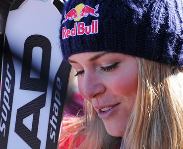 Lindsey Vonn speaks to media after the women's slalom at the Aspen Winternational, part of the Audi FIS World Cup. (U.S. Ski Team/Tom Kelly)