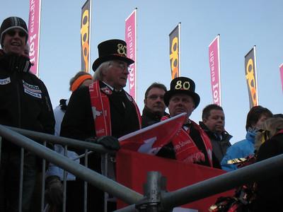 Swiss fans celebrate 80 years in Wengen (Doug Haney/U.S. Ski Team)