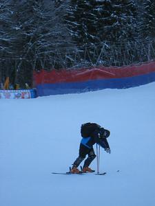 Andrew Weibrecht visualizes the Lauberhorn following downhill inspection Thursday in Wengen (Doug Haney/U.S. Ski Team)