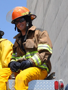 Cody Marshall during firefighter training during a Team building excercise with the Salt Lake City Fire Department on July 12 (Marshall Family)