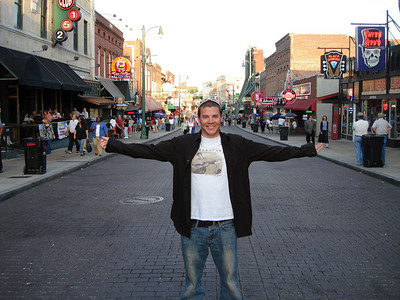 Cody Marshall in Memphis, TN during a roadtrip with brother Jesse in 2007 (Marshall Family)