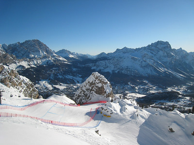 The stunning entrace to the Tofane Schuss in Cortina (Doug Haney/U.S. Ski Team)