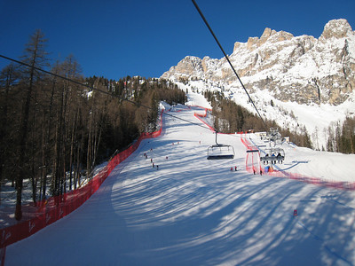 Perfect snow conditions in Cortina (Doug Haney/U.S. Ski Team)