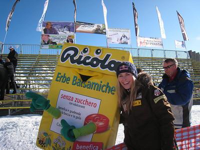"Lindsey Vonn says ""Ricola"" in Cortina (Doug Haney/U.S. Ski Team)"