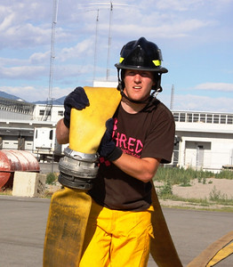 Ted Ligety during firefighter training with the SLCFD  Photo: Jay Dyal, Media Specialist, SLCFD