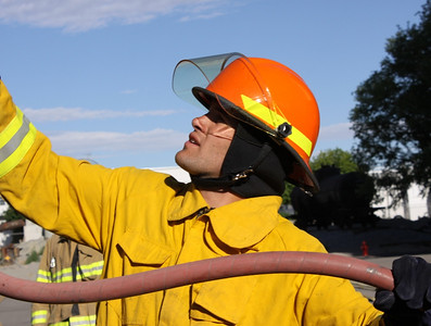 Jake Zamansky firefighter training with the SLCFD  Photo: Jay Dyal, Media Specialist, SLCFD