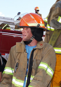 Marco Sullivan firefighter training with the SLCFD  Photo: Jay Dyal, Media Specialist, SLCFD
