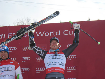 Ted Ligety following the second World Cup giant slalom crystal globe of his career (Doug Haney/U.S. Ski Team)
