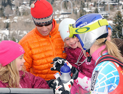 Lindsey Vonn signs autographs for fans during the Visa Aspen Winternational in the Audi FIS World Cup at Aspen.