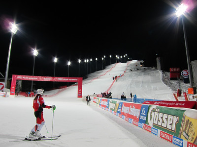 Two million Euroto was invested on the lights alone to make this race a success (Doug Haney/U.S. Ski Team)