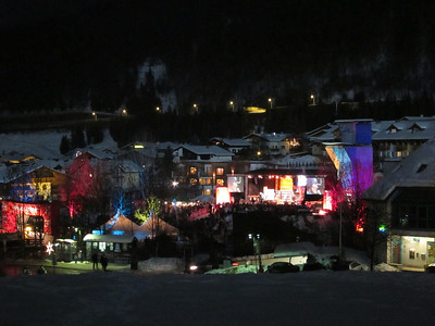 Thousands turned out for Monday night's bib draw in Flachau (Doug Haney/U.S. Ski Team)