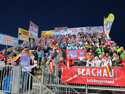 Fans pack the stands for the first run in Flachau (Doug Haney/U.S. Ski Team)