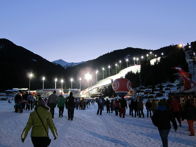 Fans arrive for the first run in Flachau (Doug Haney/U.S. Ski Team)