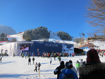 The Kitzbuehel slalom finish stadium (Doug Haney/U.S. Ski Team)