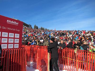 Fans stuff the hillside for the Kitzbuehel slalom (Doug Haney/U.S. Ski Team)