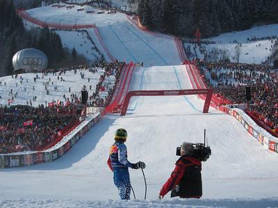 Steven Nyman in awe of the Kitzbuehel crowd (Doug Haney/U.S. Ski Team)