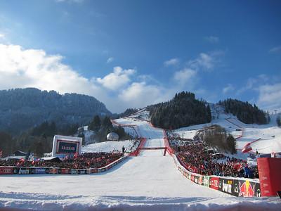 Sunshine and huge crowds for the Hahnenkamm downhill (Doug Haney/U.S. Ski Team)