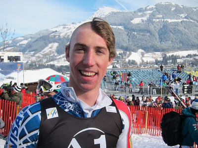Michael Ankeny shows of his fresh World Cup rookie haircut courtesy of Ted Ligety and Nolan Kasper (Doug Haney/U.S. Ski Team)