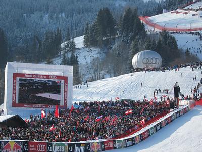 Fans pumped for the Hahnenkamm downhill (Doug Haney/U.S. Ski Team)